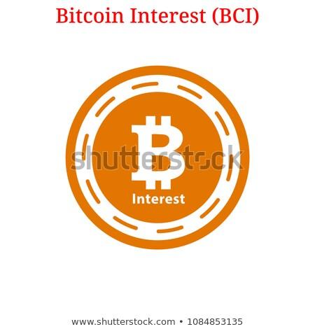 Bitcoin ícone mercado monetário emblema comércio logotipo Foto stock © tashatuvango