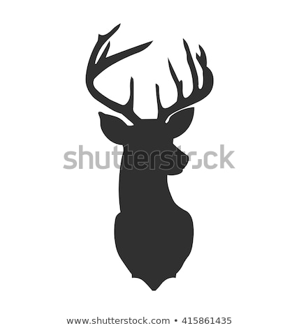 Deer silhouette. Wild animal reindeer drawn logo design Stock photo © Terriana