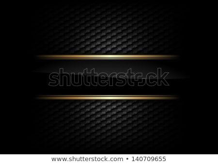 Nero oro scudo nastro frame Foto d'archivio © ThomasAmby