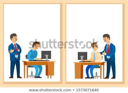 Worker Control, Praise for Good Job Company Leader Stock photo © robuart