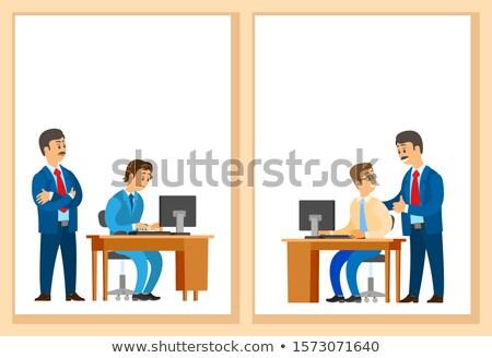 goede · baas · bedrijf · leider · kantoormedewerker · nieuwe - stockfoto © robuart