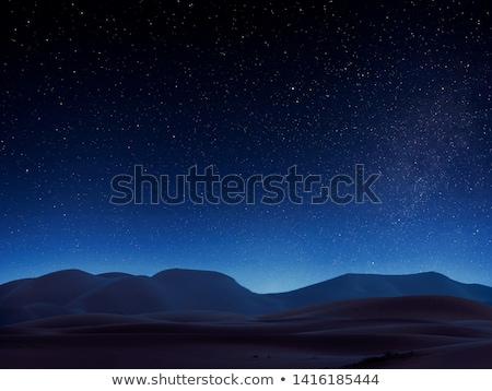 砂漠 1泊 実例 自然 風景 月 ストックフォト © bluering