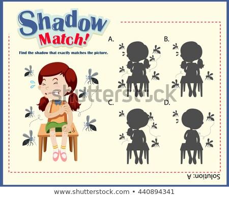 Rovar árnyék összeillő játék sablon illusztráció Stock fotó © colematt