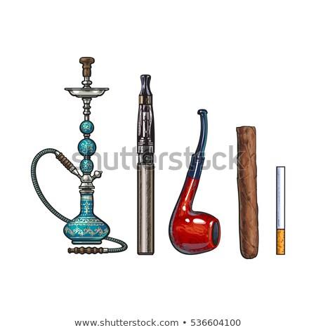Vector color sketch set electronic cigarette Stock photo © netkov1