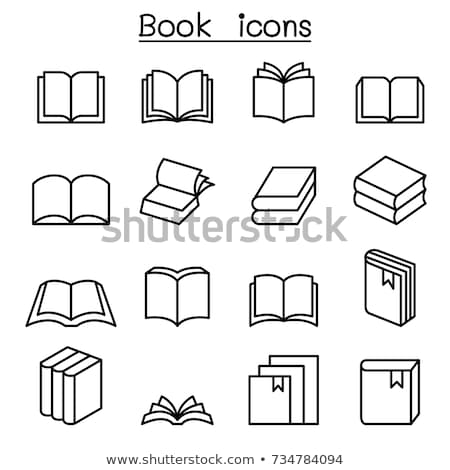 vektor · szett · könyv · terv · ír · olvas - stock fotó © olllikeballoon