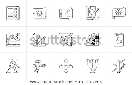 Workflow planning schets doodle icon Stockfoto © RAStudio