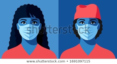 Doctor Woman and Ambulance Vector Illustration Stock photo © robuart