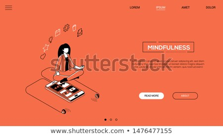 Multitasking - flat design style colorful web banner Stock photo © Decorwithme