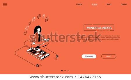 Multitasking design stile colorato web banner Foto d'archivio © Decorwithme