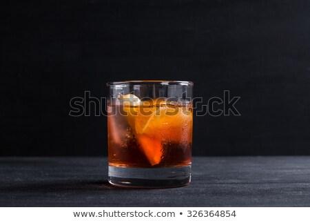 cocktail · donkere · steen · tabel · partij · achtergrond - stockfoto © grafvision