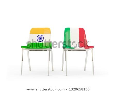 Índia · bandeira · pintado · madeira - foto stock © mikhailmishchenko
