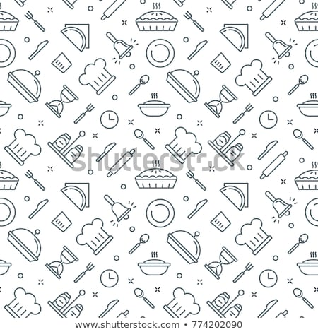 coffee concept icons pattern stock photo © netkov1