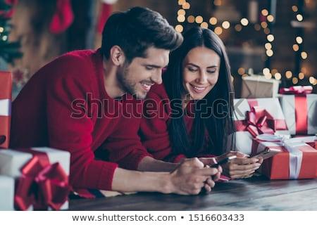 Christmas vakantie winkelen familie vrienden vector Stockfoto © robuart