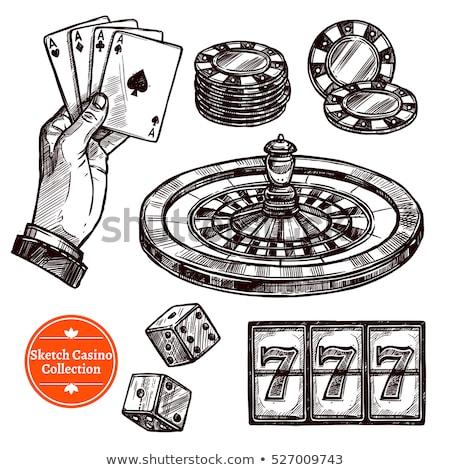 Gamble dadi sketch doodle vettore arte Foto d'archivio © vector1st
