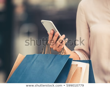 business woman carrying shopping bags Stock photo © 3dmask