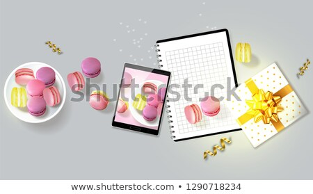 Geschenk realistisch vector tablet sjabloon lay-out Stockfoto © frimufilms