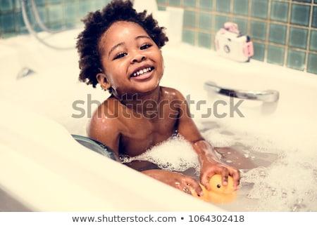 gyerekek · elvesz · zuhany · fürdőszoba · illusztráció · gyermek - stock fotó © colematt