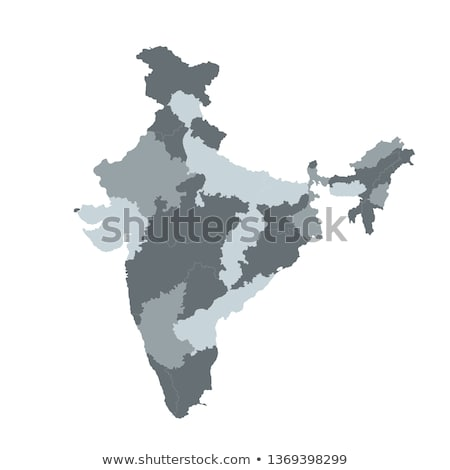 India vector map for infographic , . Editable template with regions, Vector illustration isolated on Stock photo © kyryloff