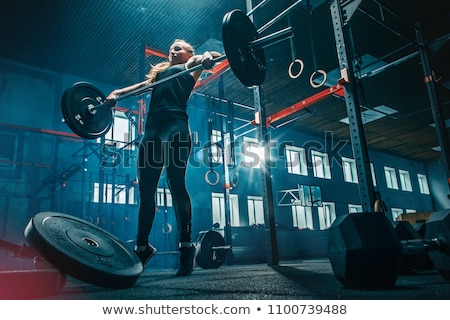 People With Barbell and Dumbbells, Bodybuilders Foto stock © robuart