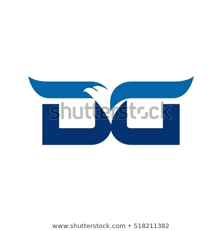 D betű sas fej logo kreatív logoterv Stock fotó © krustovin