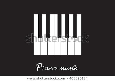 Jazz dag poster zwarte piano sleutel Stockfoto © cienpies