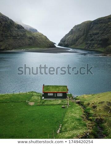 古い · 家 · 草 · 屋根 · 美しい · 木製 - ストックフォト © unkreatives
