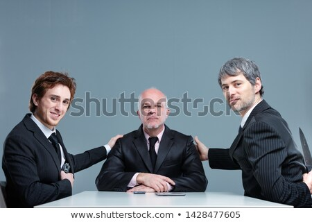 Boss with two of his executives posing together Stock photo © Giulio_Fornasar