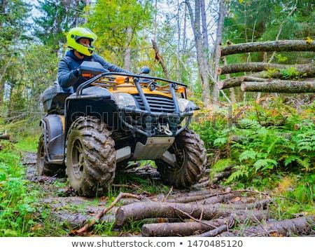 Motorbicikli motorozás hobbi férfiak sportok extrém Stock fotó © robuart
