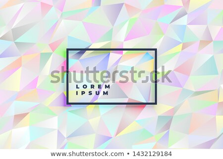 soft holographic pastel colors low poly triangle background Stock photo © SArts