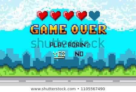 Terminar jogo jogar final vetor Foto stock © robuart