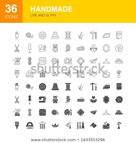Handmade Line Web Glyph Icons Stock photo © Anna_leni
