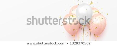 Birthday baloons and objects Stock photo © mythja