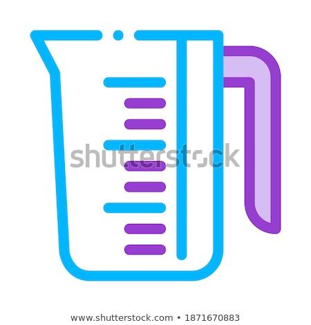 Porselein wasserij dienst beker vector lijn Stockfoto © pikepicture