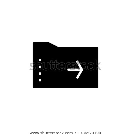 office paper and arrowheads isolated icons vector stock photo © robuart
