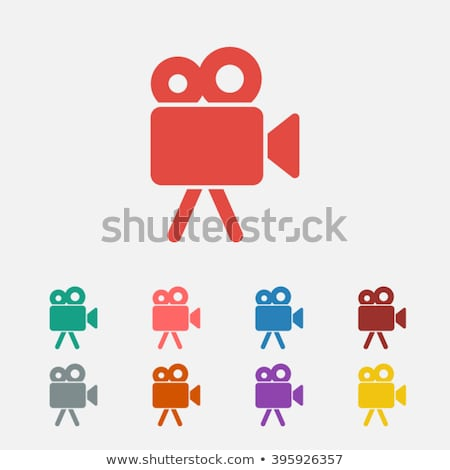 Green Video Camera Icon Stock photo © kbuntu