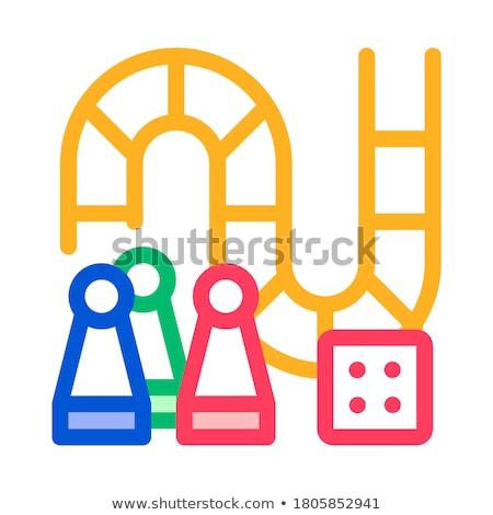 интерактивный дети игры монополия вектора знак Сток-фото © pikepicture