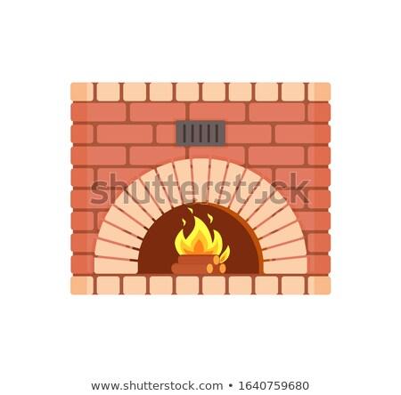 Fireplace of Fireproof Brick Arch Hearth Brickwork Stock photo © robuart