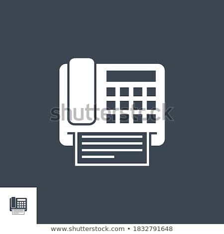 Fax related vector glyph icon. Stock photo © smoki