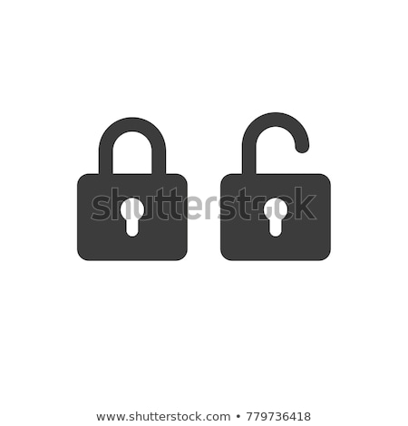lock and unlock icons Stock photo © get4net