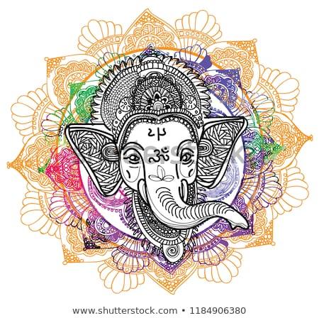 traditional lord ganesha ethnic style background design Stock photo © SArts