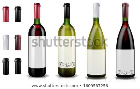 Champán etiqueta vidrio botella color vector Foto stock © pikepicture