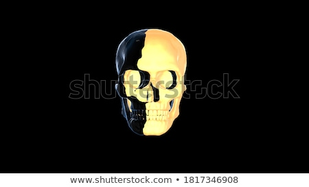 scary ghost face in 3d style halloween background Stock photo © SArts