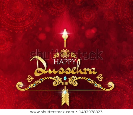 cultural happy dussehra festival greeting background design Stock photo © SArts