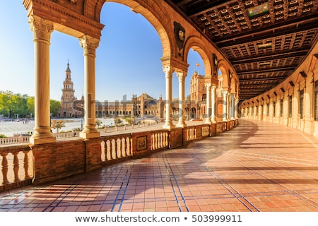 plaza de espana seville spain stock photo © borisb17