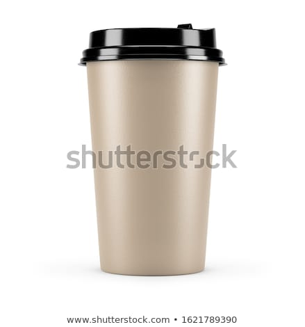 Mockup of paper cups with takeway coffee to go packaging Stock photo © LoopAll