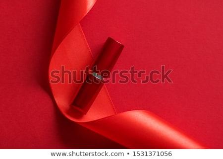 Lüks ruj ipek şerit kırmızı tatil Stok fotoğraf © Anneleven