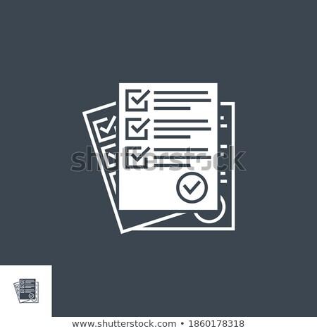 Cuestionario vector icono aislado blanco oficina Foto stock © smoki