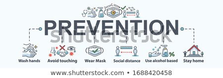 Influenza orvosi minimális infografika szalag vektor Stock fotó © pikepicture