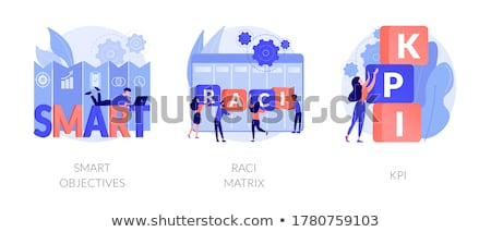RACI matrix concept vector illustration. Stock photo © RAStudio
