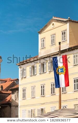 Cidade velha ouvir Croácia povos praça casa Foto stock © borisb17